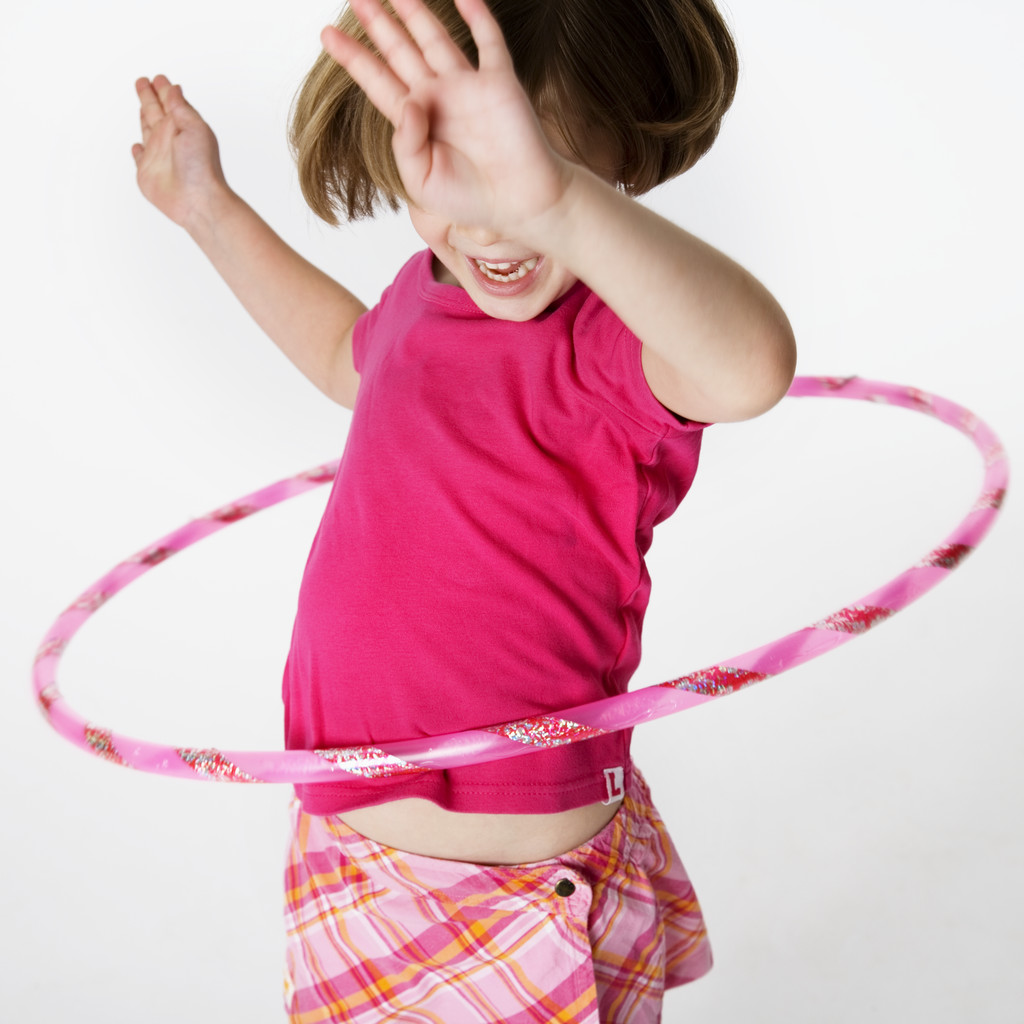 Girl Playing with Hula Hoop